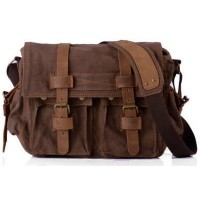 The Legend Canvas Leather Messenger Bag