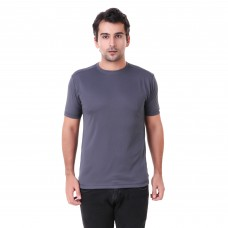 Dark Grey Regular Dri Fit Round Neck Tshirt