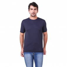Navy Blue Regular Dri Fit Round Neck Tshirt