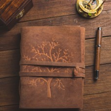 The Vintage Tree Of life Leather Journal with kraft paper