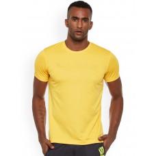 Yellow Regular Dri Fit Round Neck Tshirt