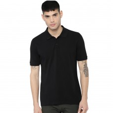 Black Slim Fit Casual Polo Tshirt