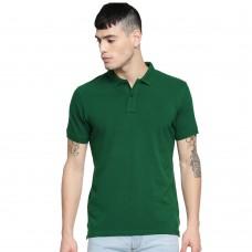 Dark Green Slim Fit Casual Polo Tshirt