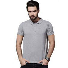 Grey Slim Fit Casual Polo Tshirt