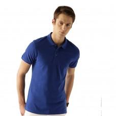 Royal Blue Slim Fit Casual Polo Tshirt