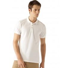 White Slim Fit Casual Polo Tshirt