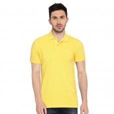 Yellow Slim Fit Casual Polo Tshirt
