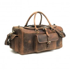 The Shaw Leather Travel Luggage Bag
