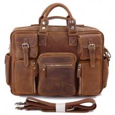 Doctor Strange Brown Leather Laptop Bag