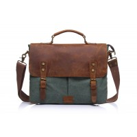 The Groot Canvas Leather Laptop Bag