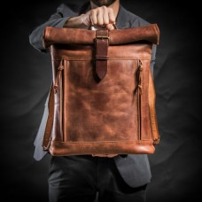 The Hero Brown Leather Backpack